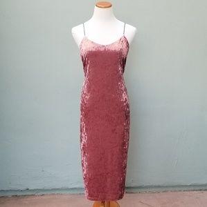 Active USA Velvet Midi Plus Size Dress